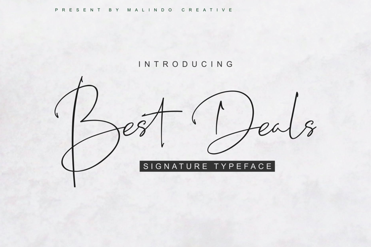 Best Deals Font