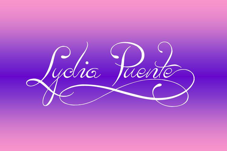 Lydia Puente) Font