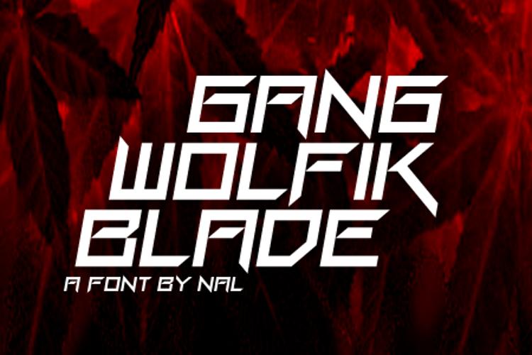 Gang Wolfik Blade Font