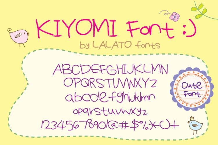 KiyomiFont Font