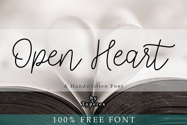 Open Heart Font
