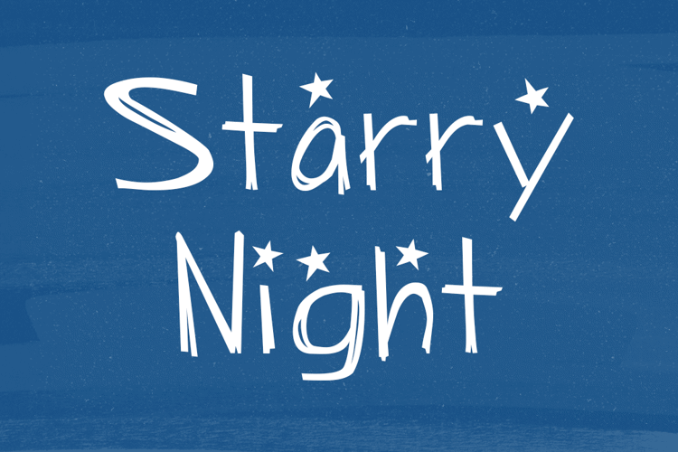 Starry Night Font