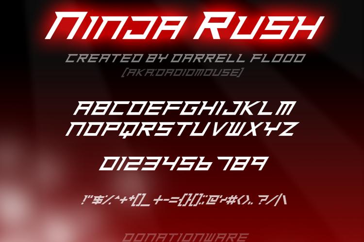 Ninja Rush Font