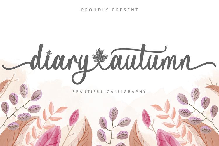 Diary Autumn Font
