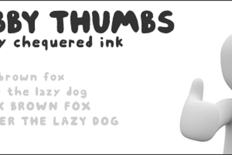 Chubby Thumbs Font