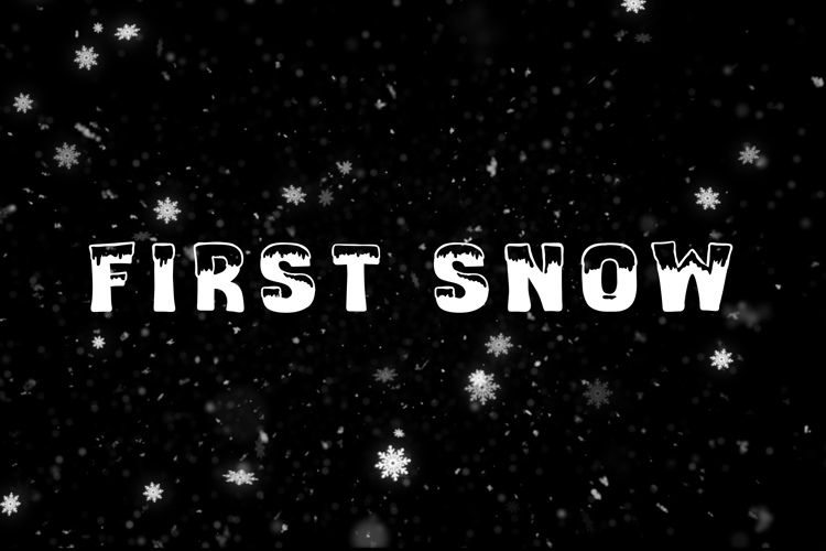 first snow Font