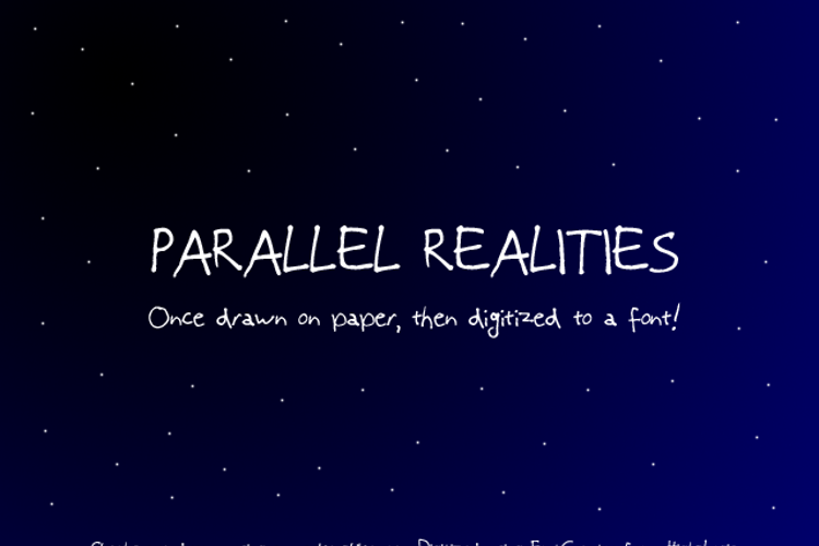 Parallel Realities Font