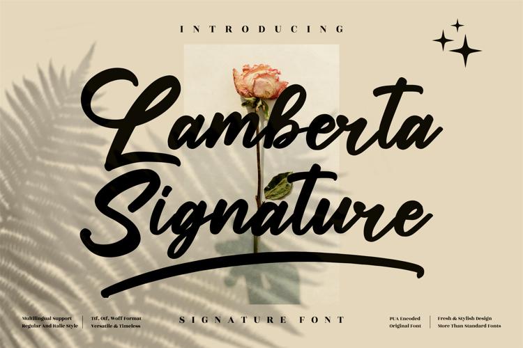 Lamberta Signature Font