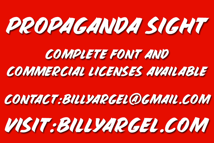 PROPAGANDA SIGHT Font