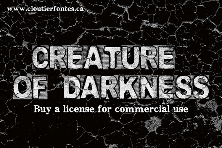 CF Creature of Darkness Font