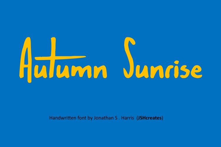 Autumn Sunrise Font