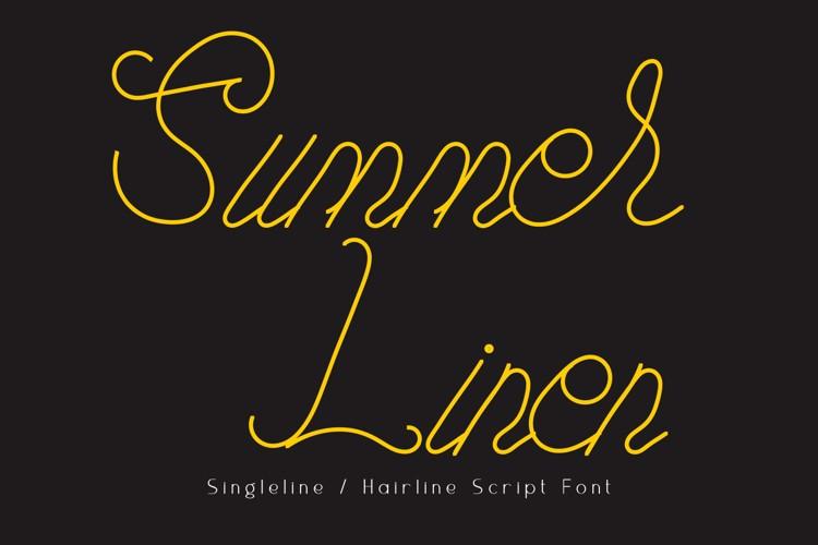 Summer Linen Font