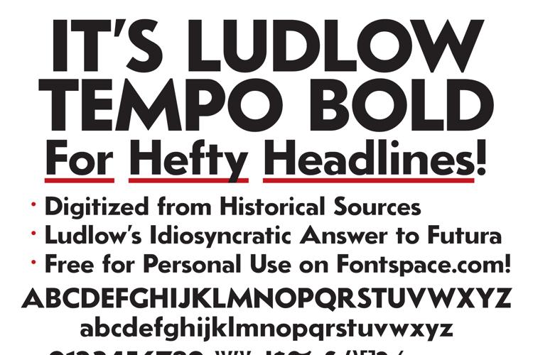 LudlowTempo Font