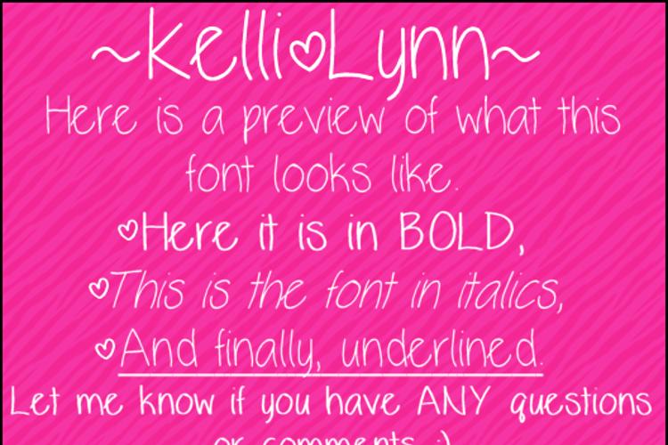 KelliLynn Font
