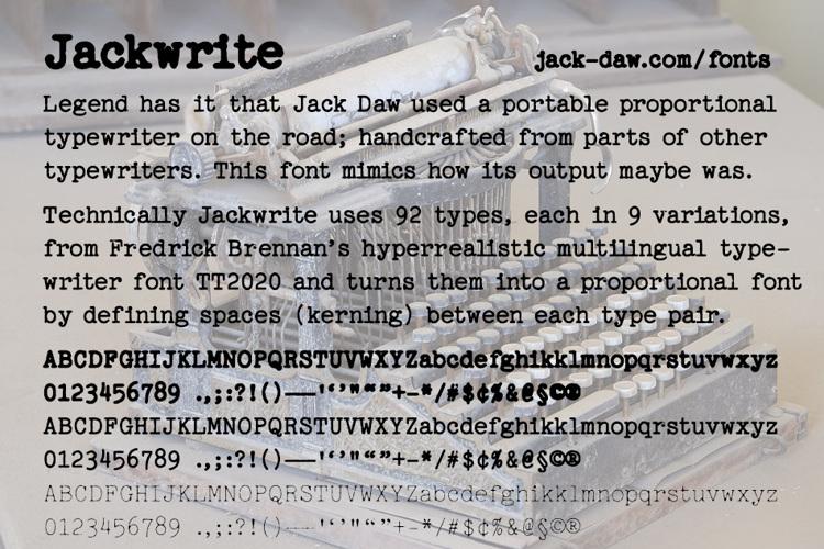 Jackwrite Font