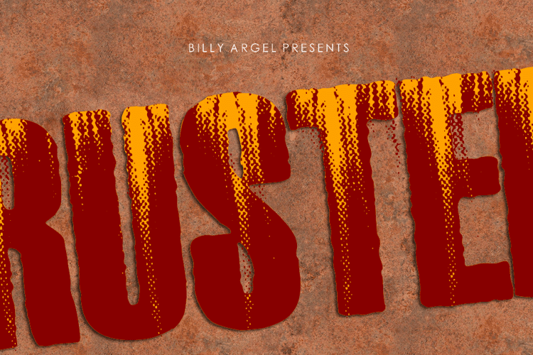 RUSTED Font