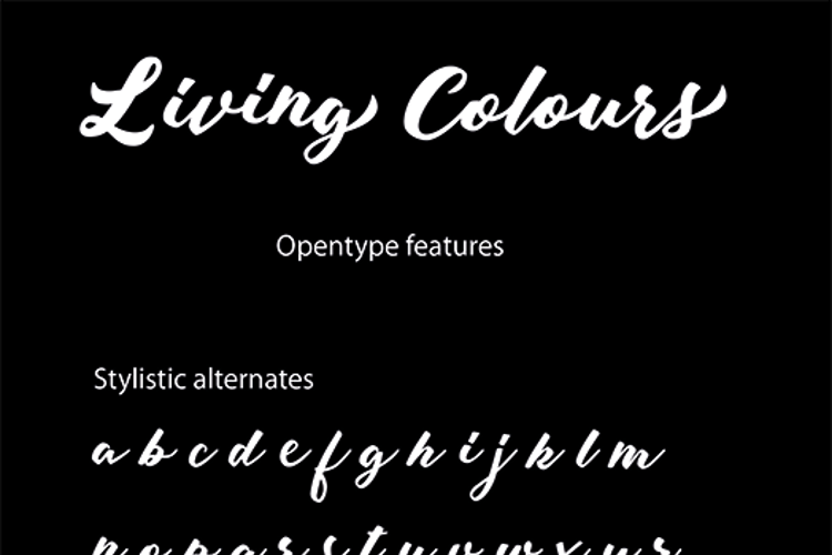 Living Colours Font