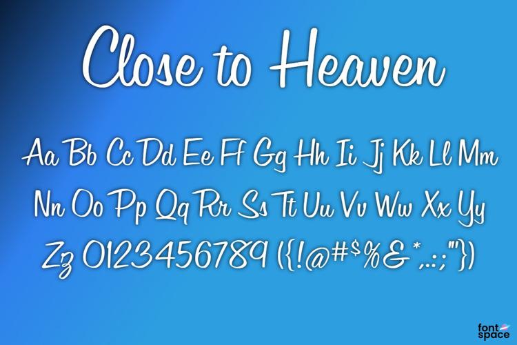 BB Close to Heaven Font