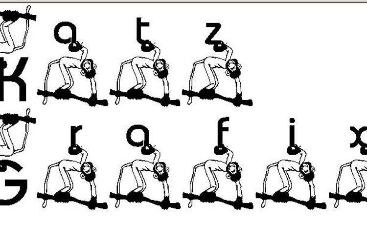 KG Monkey Font