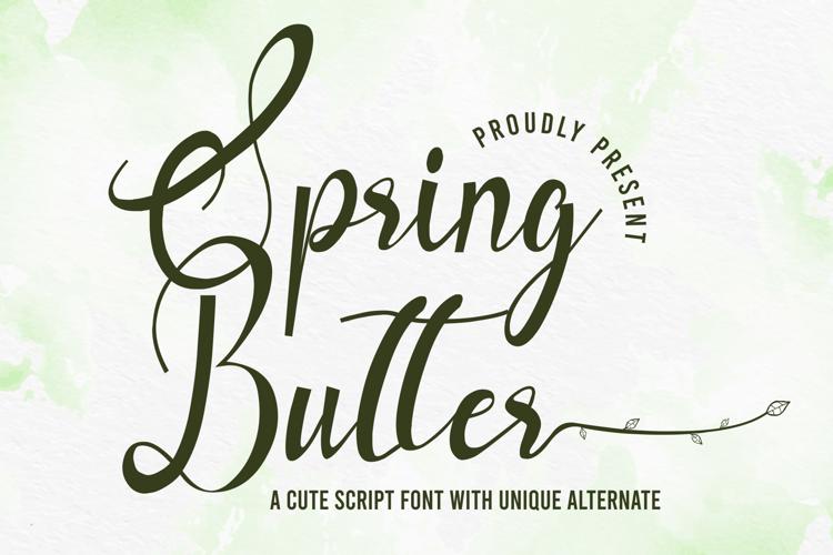Spring Butter Font