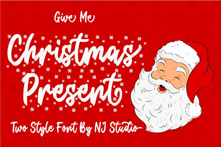 Christmas Present Snow Font