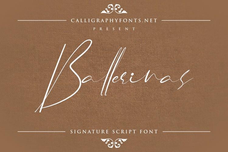 Ballerinas Font