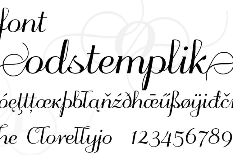 odstemplik Font