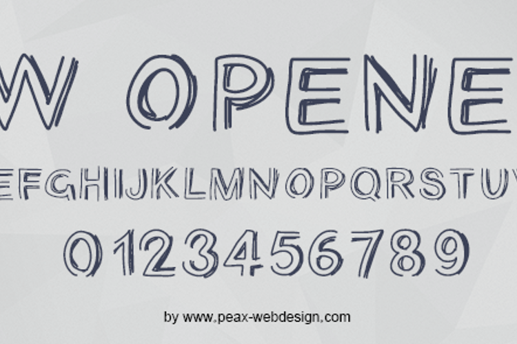PWOpened Font