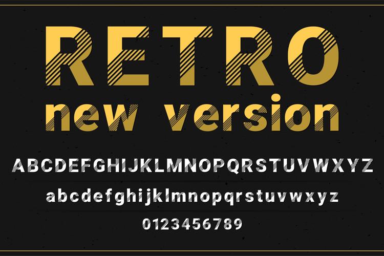 Retro New Version Font
