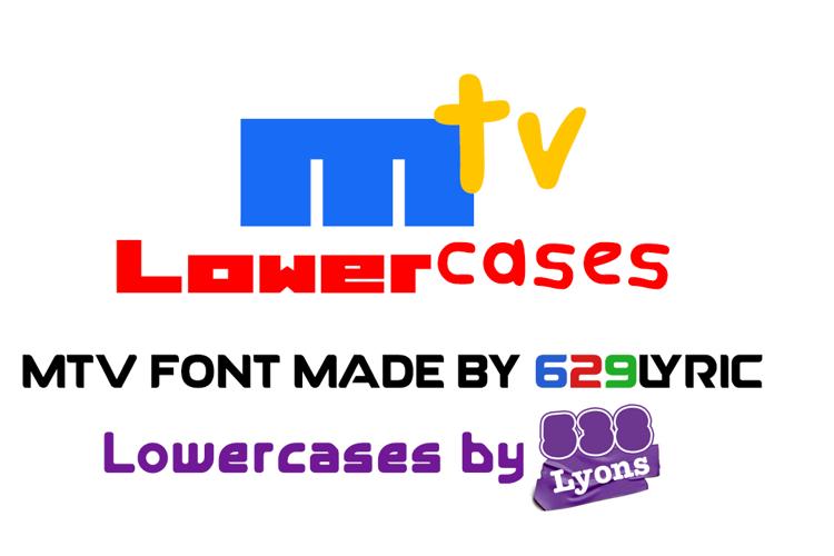 MTV Lowercase 1 Font