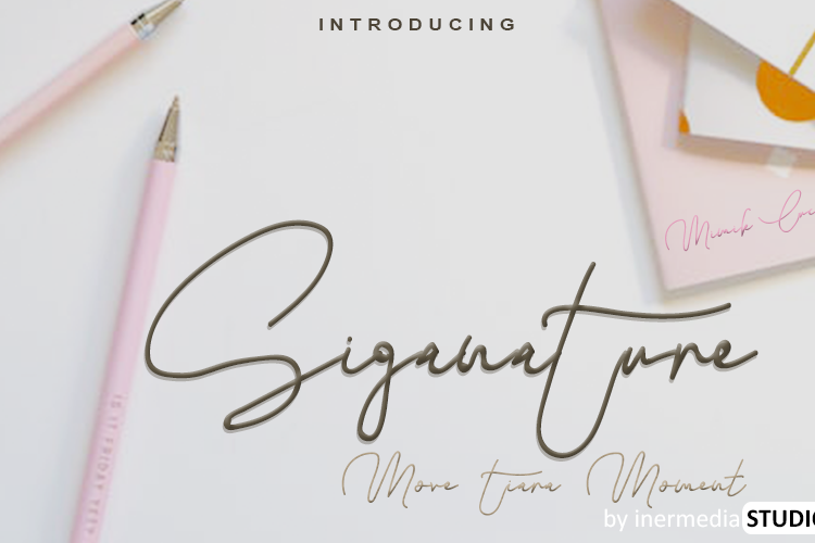 Siganature Font