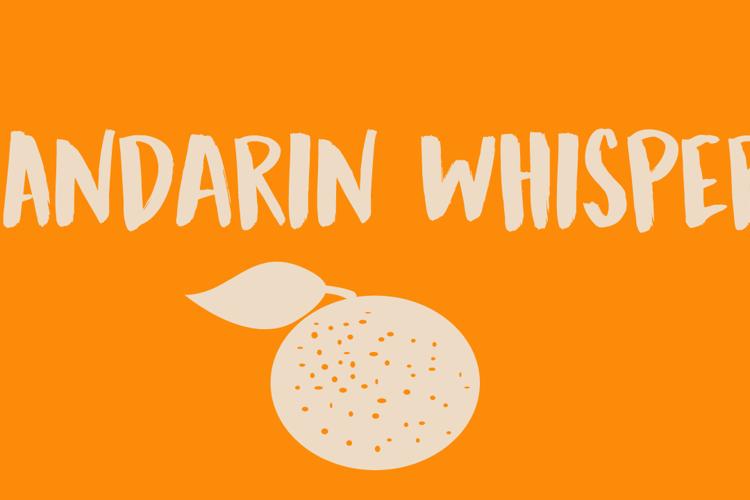 DK Mandarin Whispers Font