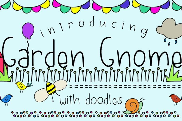 GJ-Garden Gnome Doodles Font