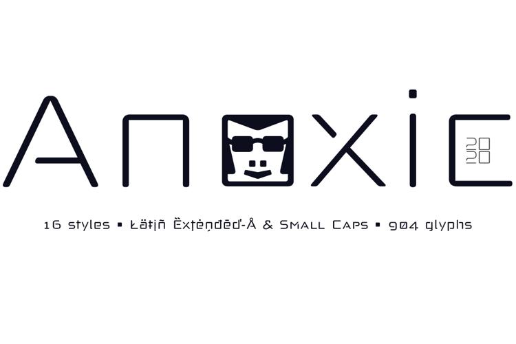 Anoxic Light & Medium Font
