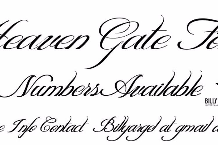 HEAVEN GATE Font
