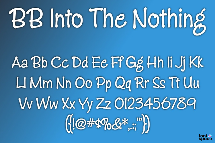 BB Into The Nothing Font