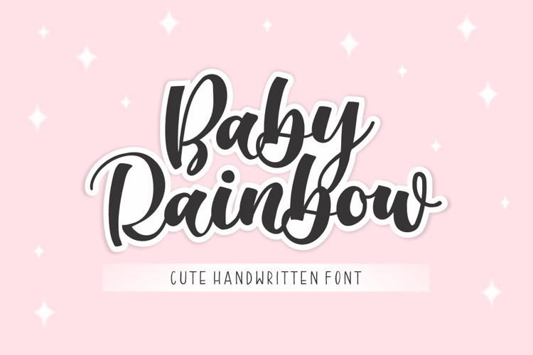 Baby Rainbow Font