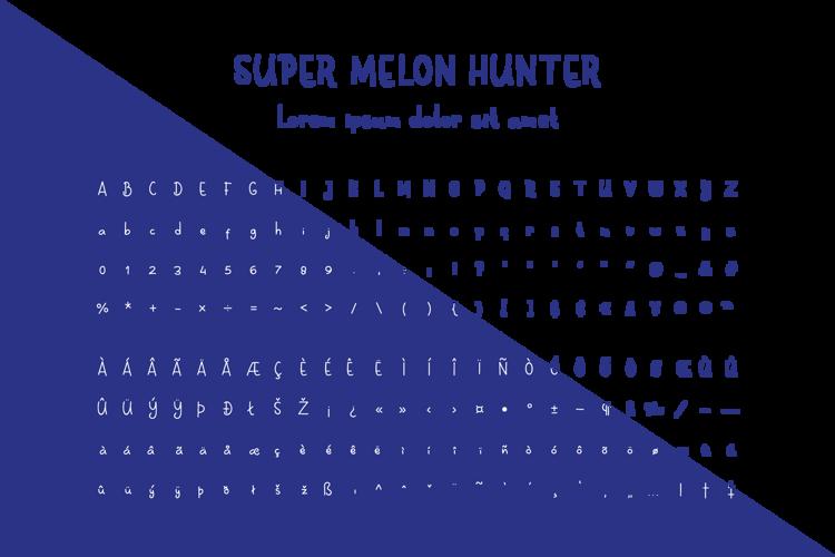 Super Melon Hunter Font