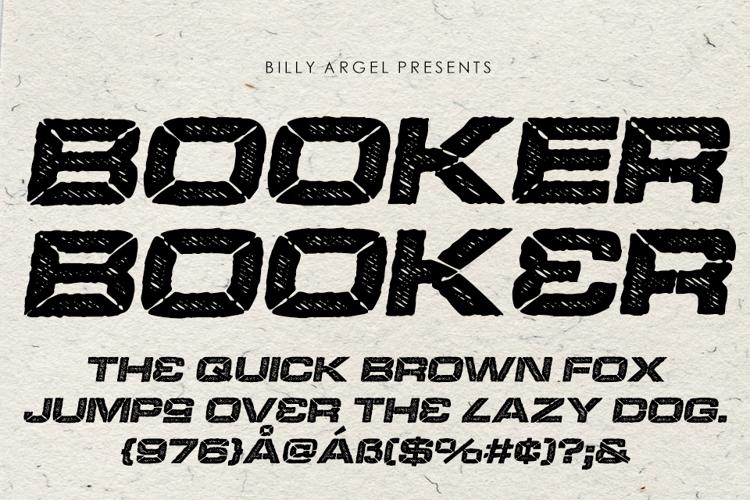 BOOKER ITALIC Font