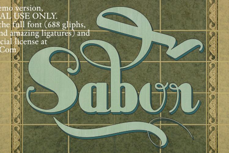 Sabor Limited Font