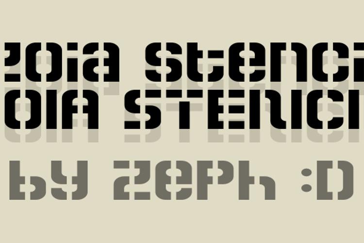Zoia Stencil Font