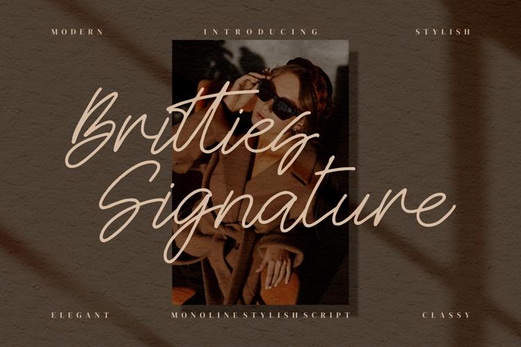 Britties Signature Font