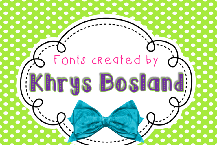 KBSeriouslyIntoHer Font