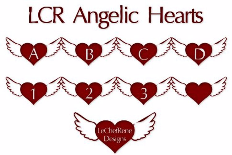 LCR Angelic Hearts Font