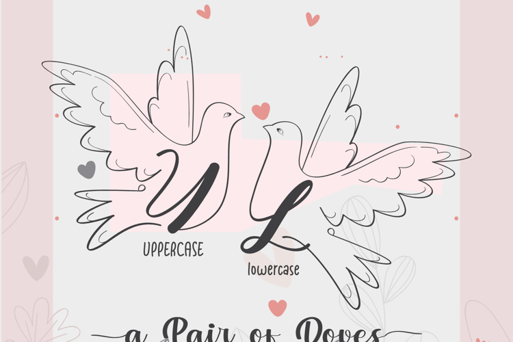 a Pair of Doves Font
