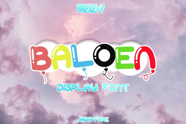 Baloen Font