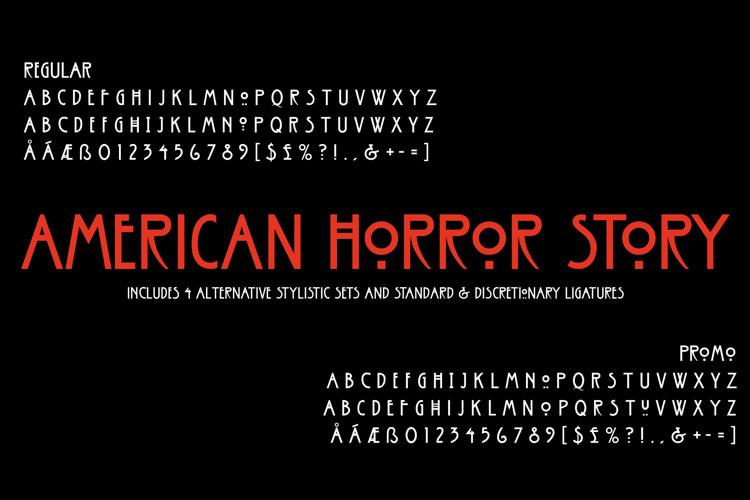 American Horror Story Font