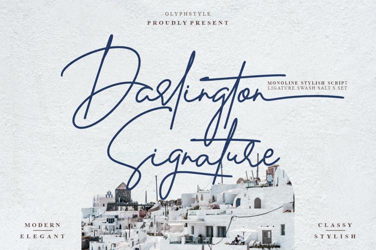 Darlington Signature Font
