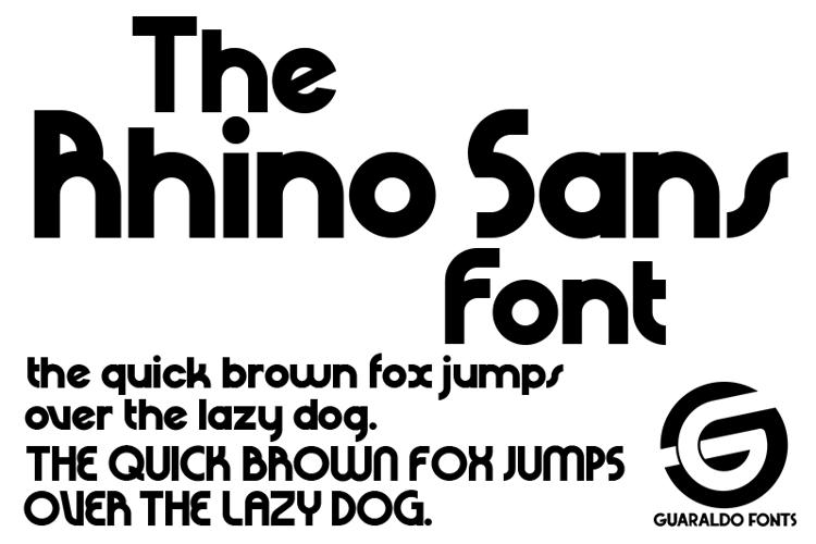 Rhino Sans Font