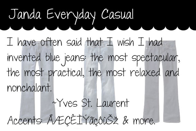 Janda Everyday Casual Font